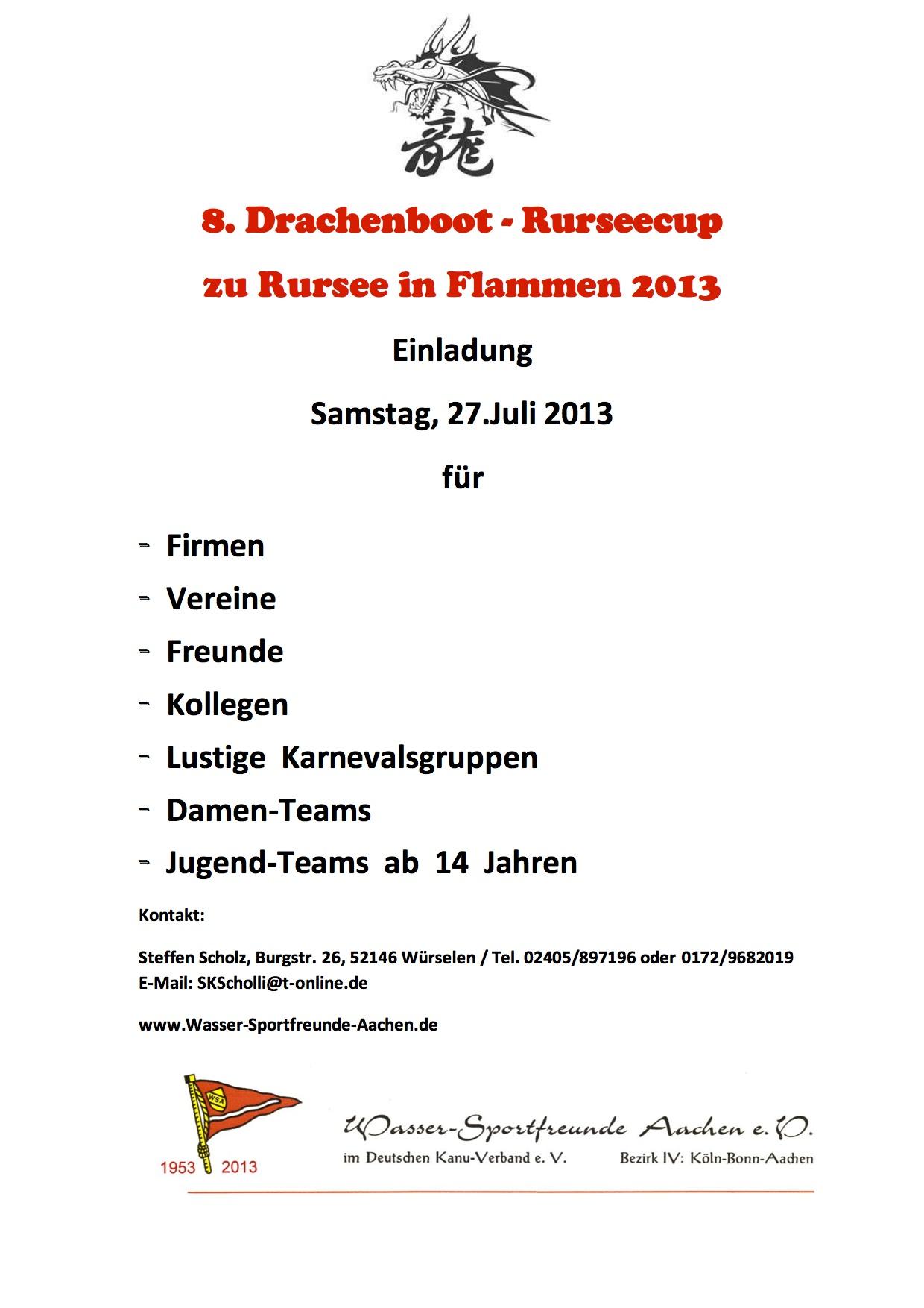 2013_05_20 Einladung Drachenboot-Rurseecup 2013